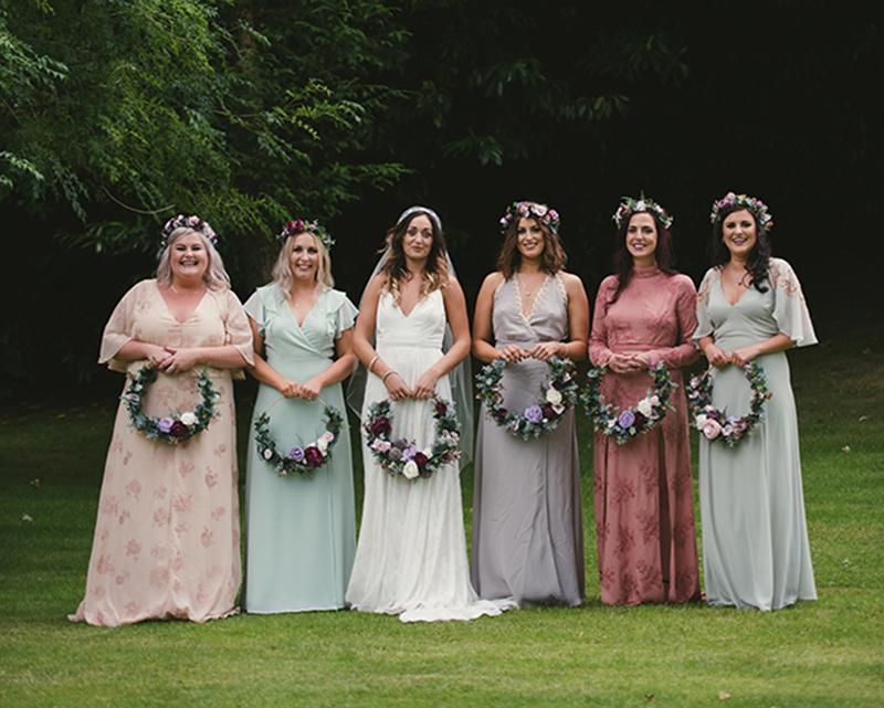 buquê de noiva em arco