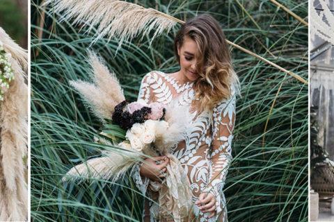 Decoração de casamento com capim dos pampas: tendência 2019