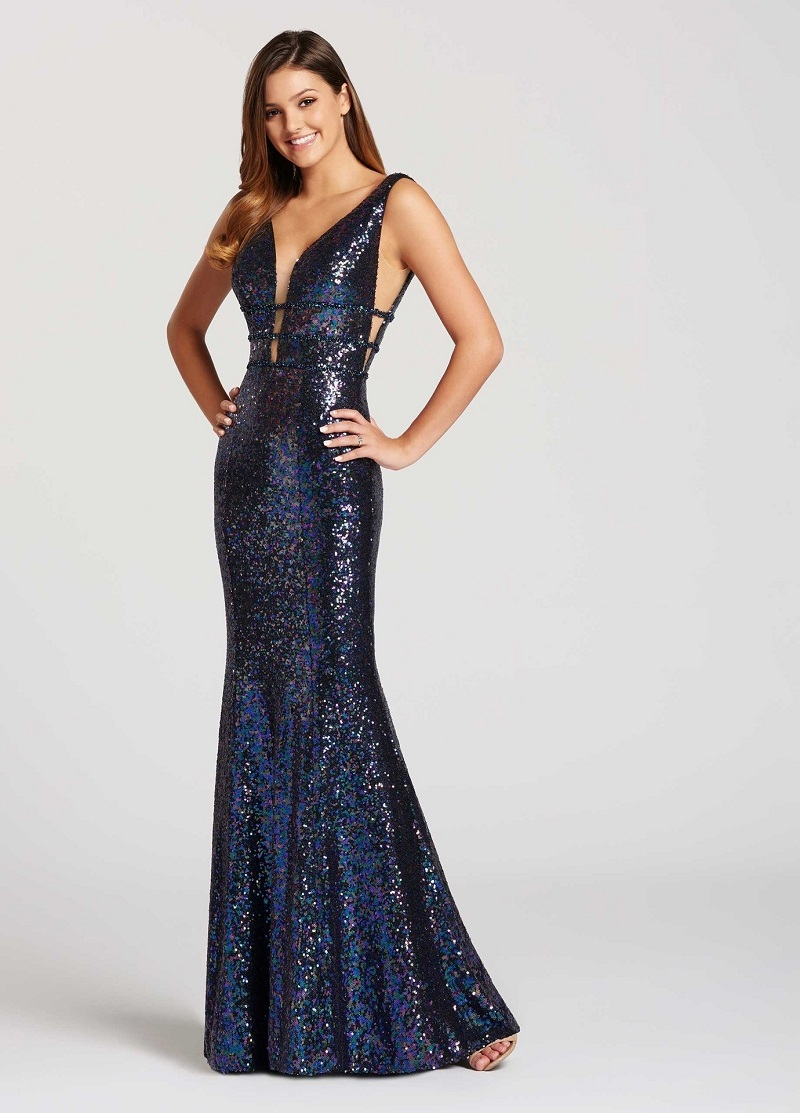 vestido-de-madrinha-azul-marinho-com-paetê