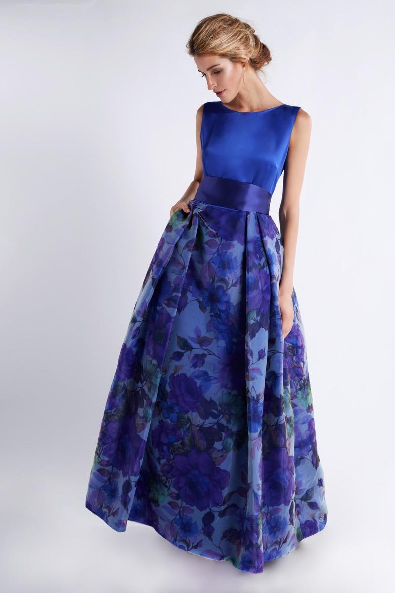 vestido-de-madrinha-azul-com-saia-estampada