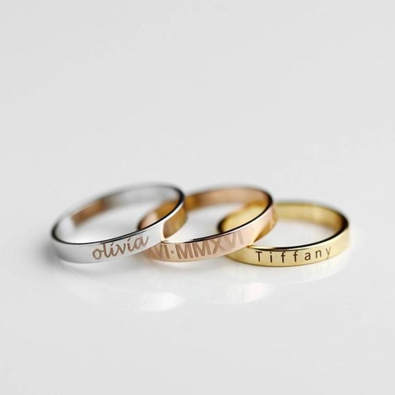 anéis personalizados para madrinhas de casamento
