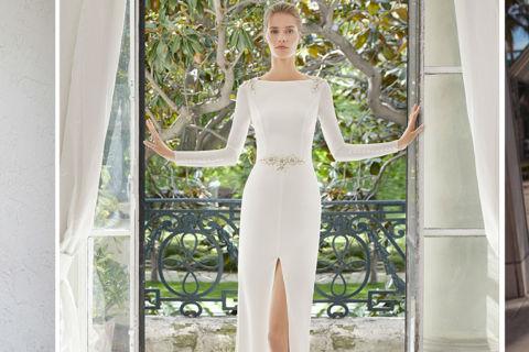 Vestido de noiva com fenda na saia, o modelo cheio de personalidade