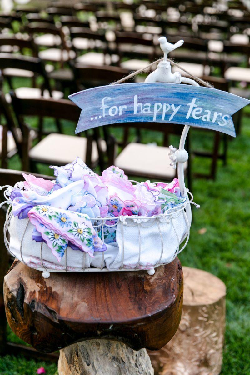 Lembrancinhas de casamento: lágrimas de alegria