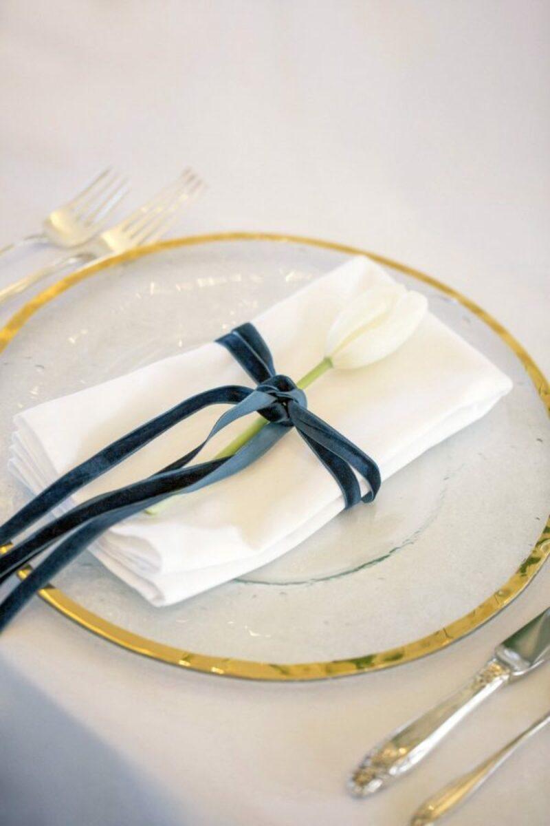 veludo na decoração de casamento