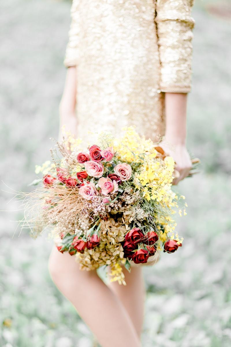 buquê para casamento no outono