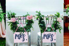 cadeiras personalizadas para os noivos