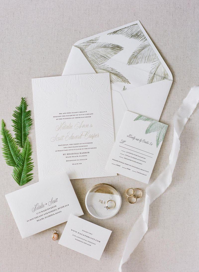Convite de casamento clássico com laço