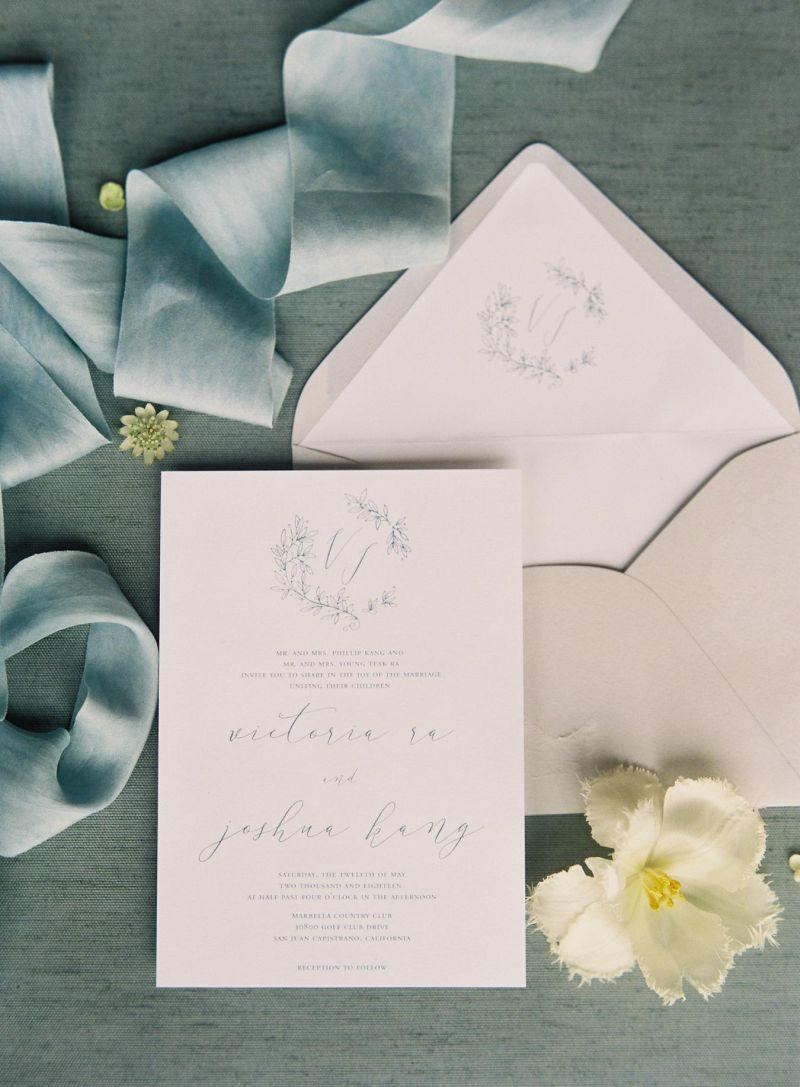 Convite de casamento minimalista com uma proposta simples