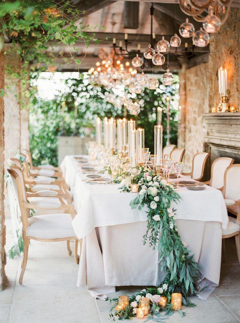 Mesa de festa no casamento