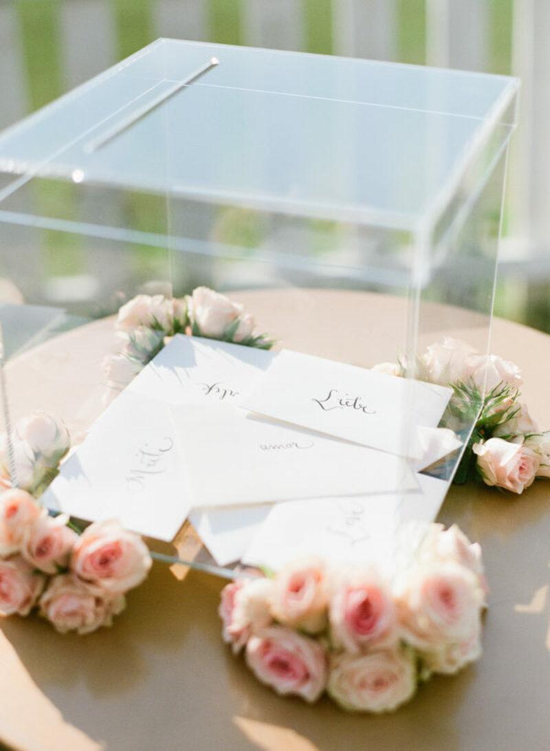 acrílico no casamento