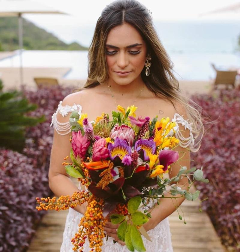 buque casamento protea