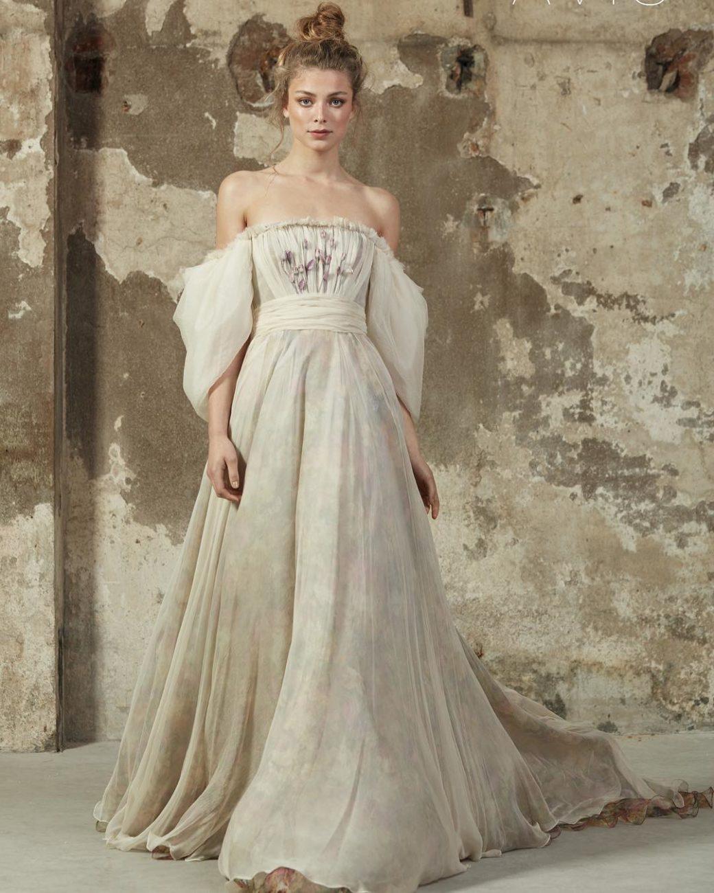 vestidod e noiva com manga bufante