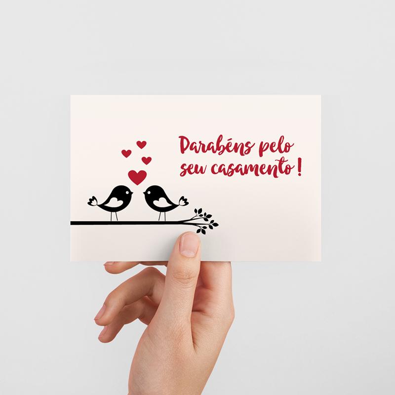 mensagem de casamento em cartões