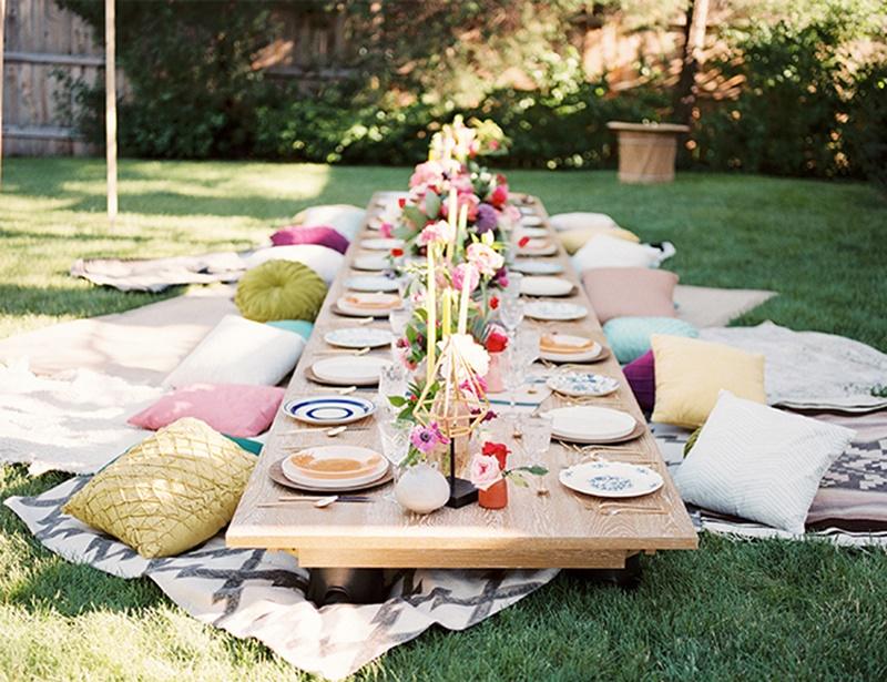 mesas baixas para decoração