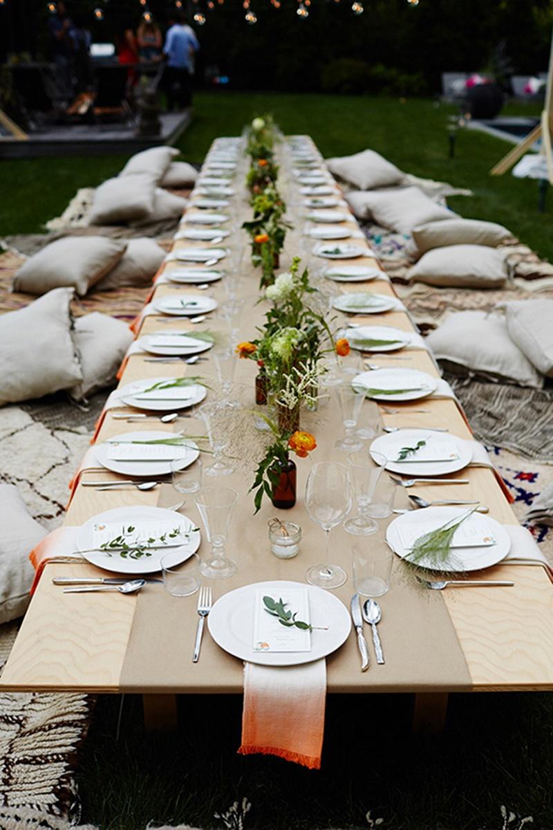mesas baixas decoração de casamento