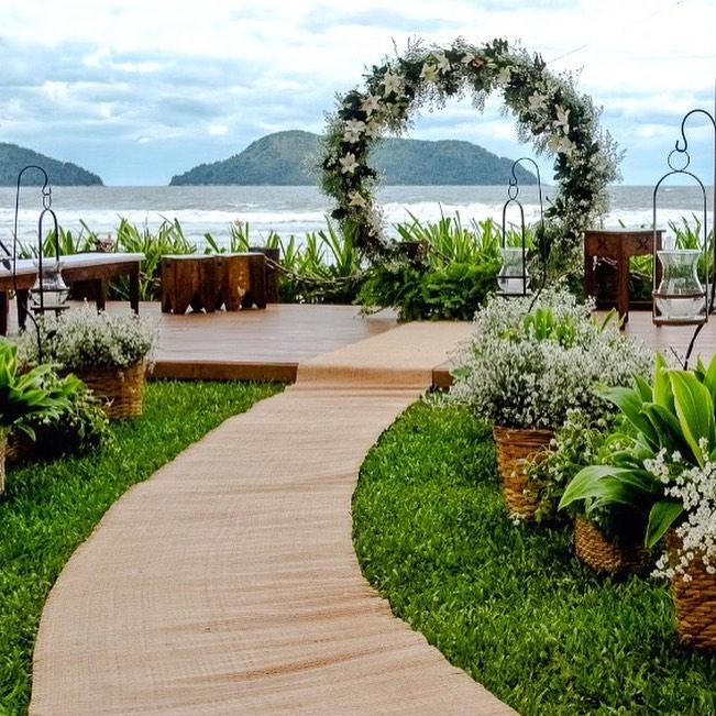 casamento na praia espaços no litoral SP