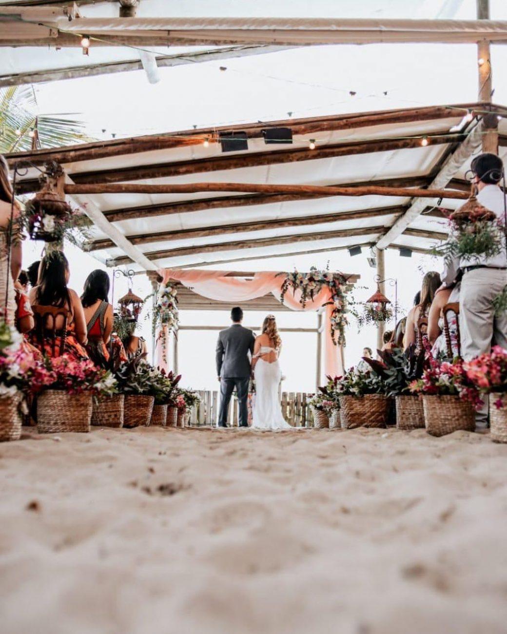 espaço para casamento na praia