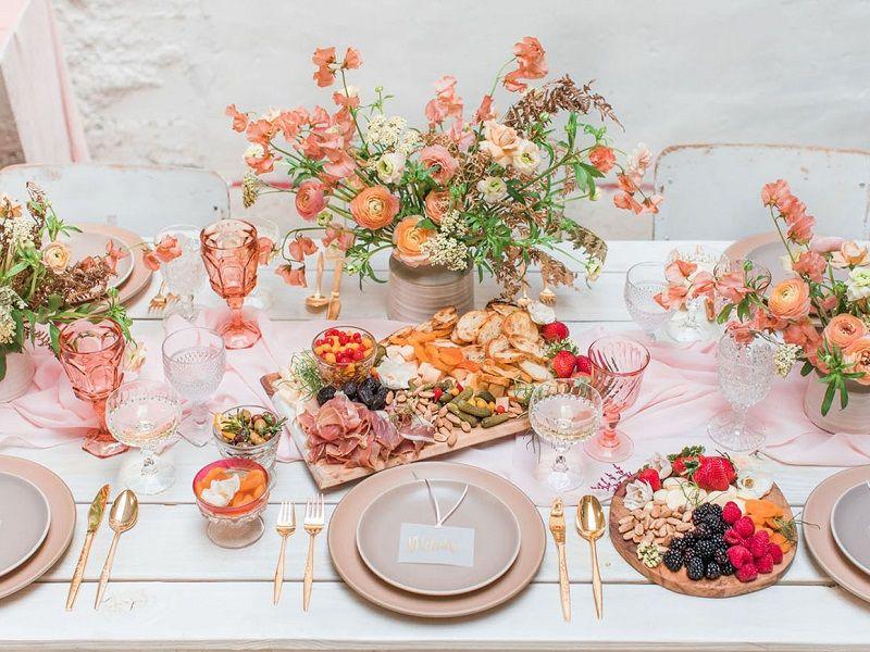 decoração-rosé-e-laranja