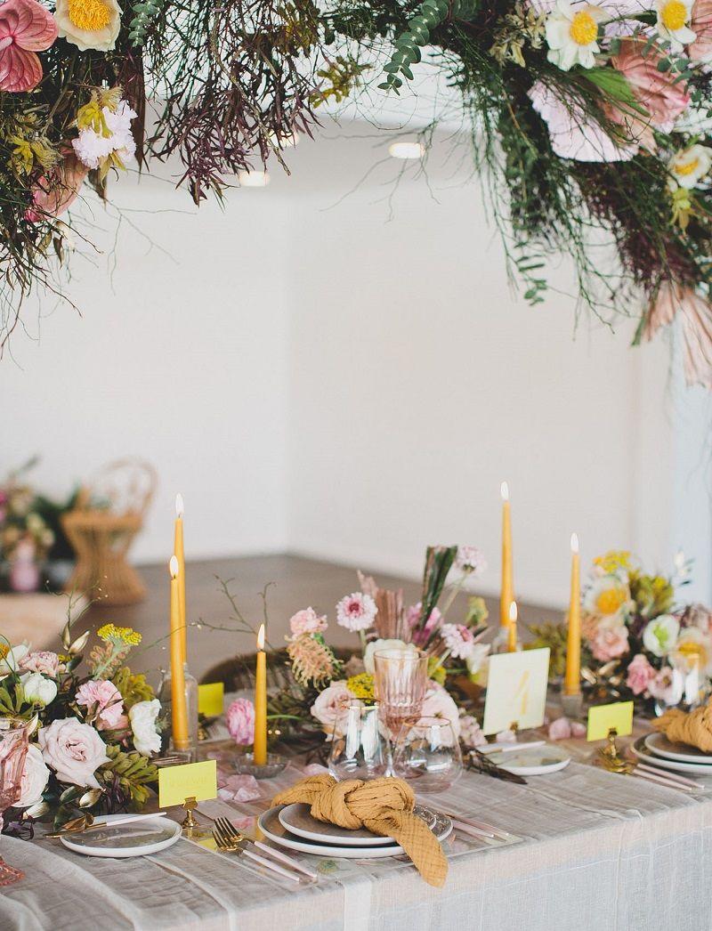 decoração-de-casamento-rosé-e-amarelo