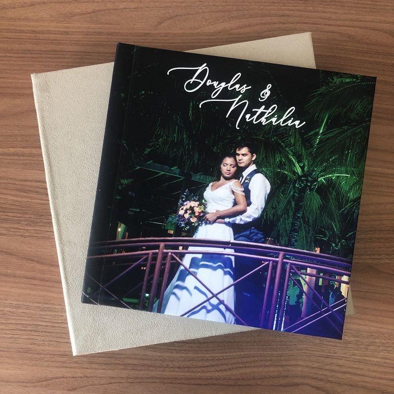 álbum de casamento com capa dura