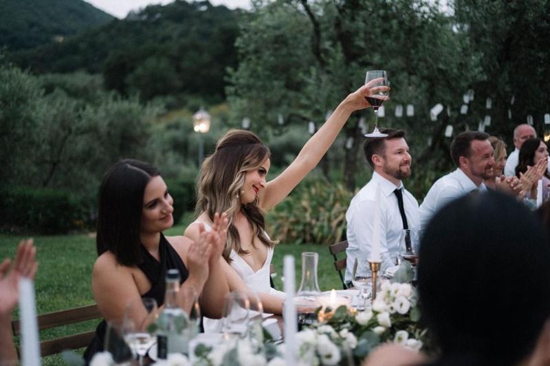 brinde com homenagem pessoa falecida no casamento