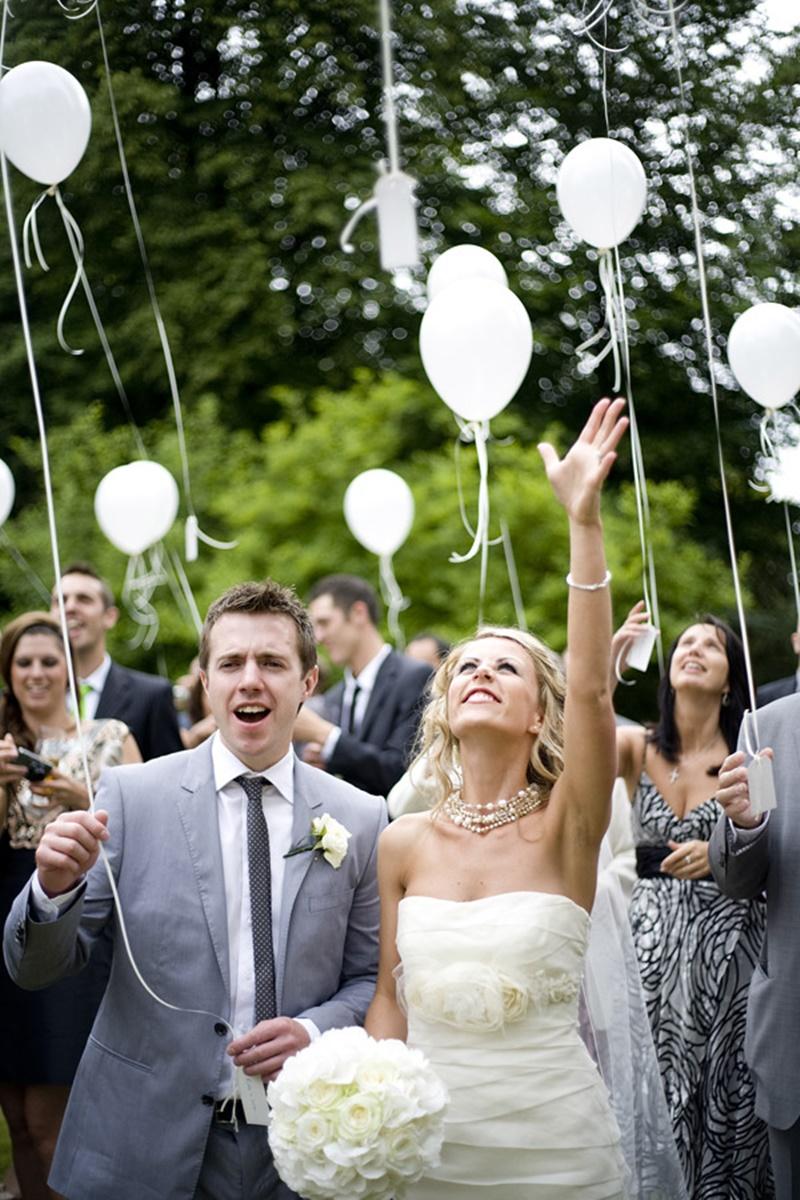 balões para pessoa falecida no casamento
