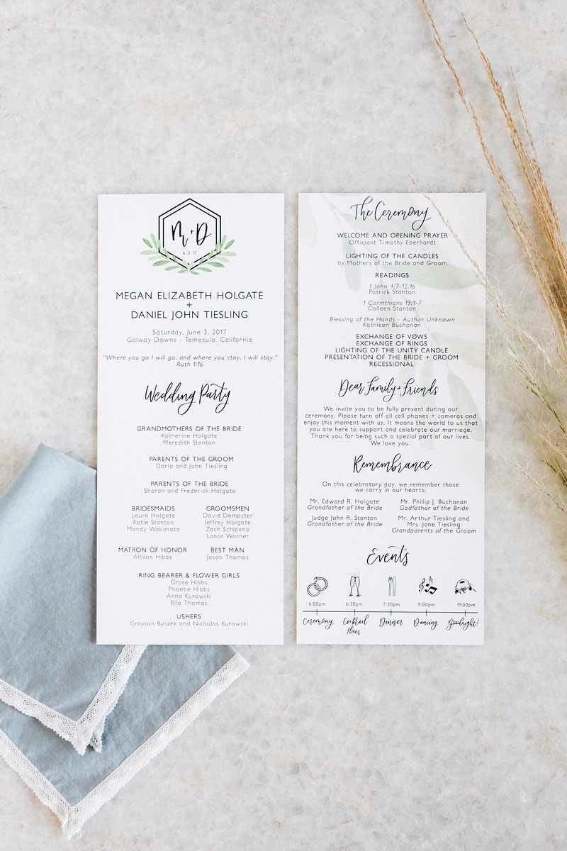 menu do casamento