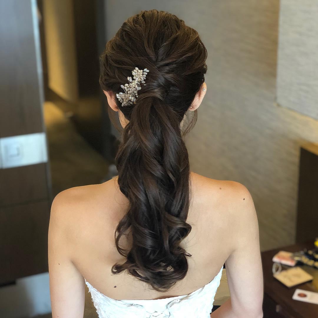 penteados para noiva com rabo de cavalo
