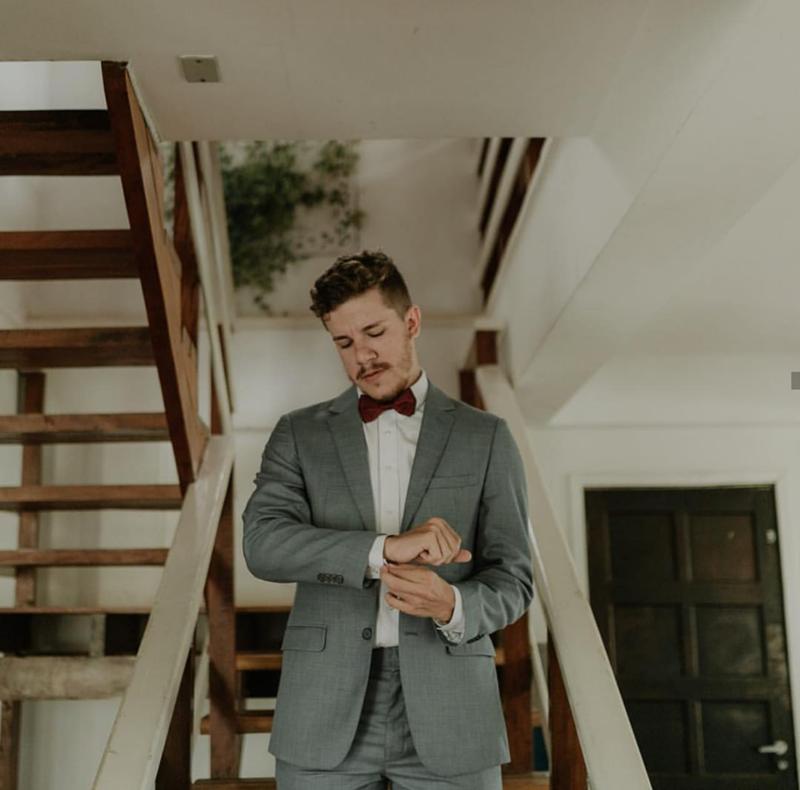 terno cinza para noivos