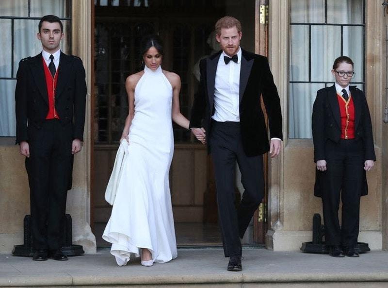 vestido de noiva decote halter meghan markle