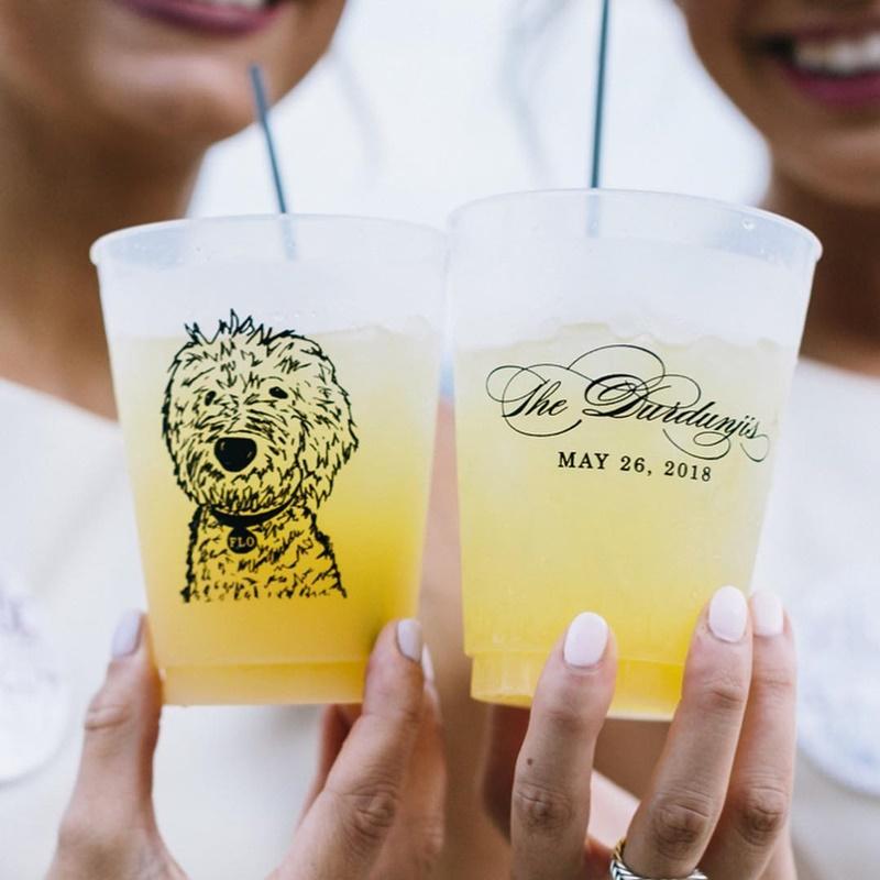 copo com desenho de cachorro