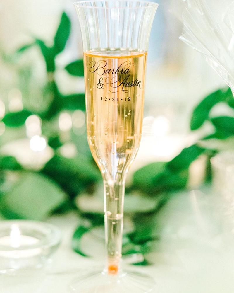 taça personalizada para casamento