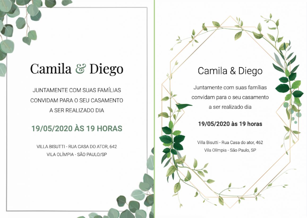 organizar o casamento convites