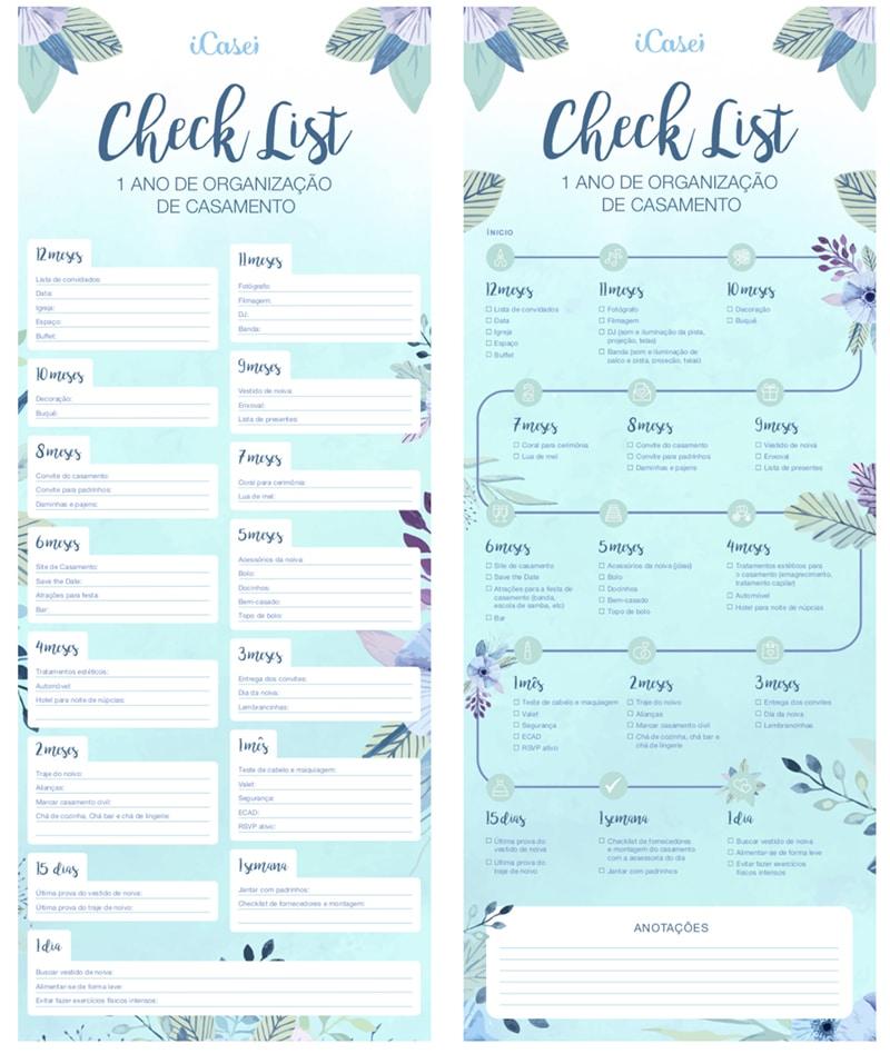 planejamento do casamento checklist