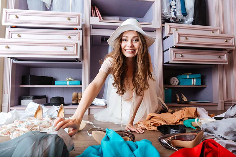 quarentena organização guarda-roupa