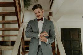 Terno cinza para os noivos: como usar?