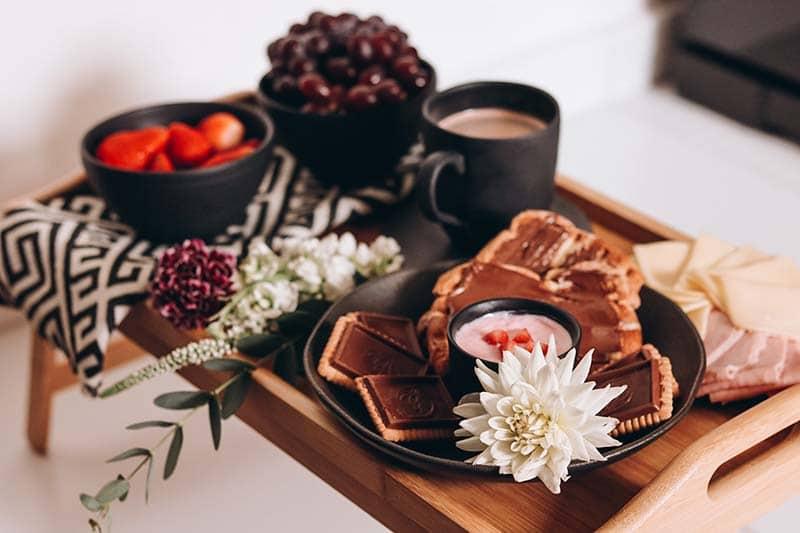 café da manhã Maju silva e Kaique costa