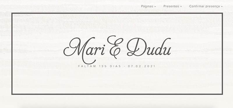 layouts para site de casamento